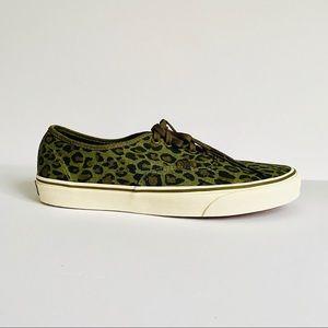 NWT: VANS x J CREW | Unisex Leopard Olive …